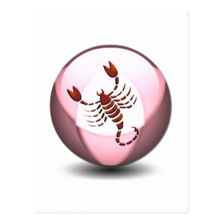 Scorpio Scorpion Postcard