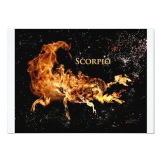 Scorpio-scorpion-s 13 Cm X 18 Cm Invitation Card