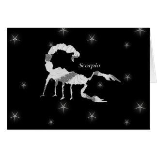 Scorpio Scorpion Zodiac Design Blank Inside Card