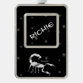 Scorpio Scorpion Zodiac Design Blank Inside Silver Plated Framed Ornament