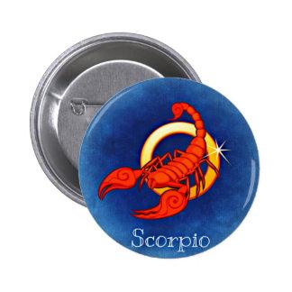 Scorpio, Scorpione 6 Cm Round Badge