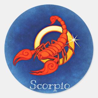 Scorpio, Scorpione Classic Round Sticker