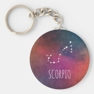 Scorpio Sign Constellation Key Ring