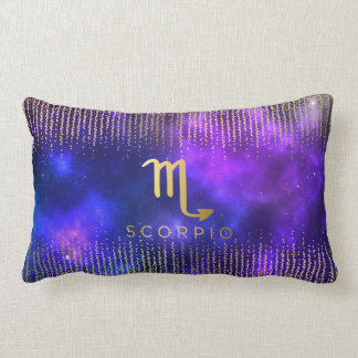 Scorpio Sign Custom Name Lumbar Throw Pillow