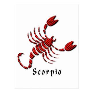 Scorpio Sign Postcard
