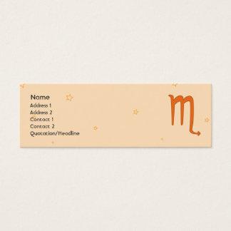 Scorpio - Skinny Mini Business Card