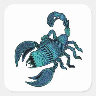 Scorpio Square Sticker