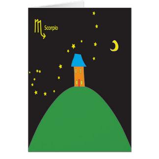 Scorpio Star sign birthday card