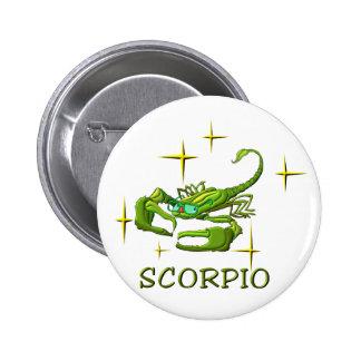 Scorpio (stars) 6 cm round badge