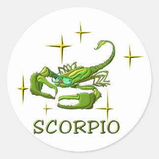 Scorpio (stars) classic round sticker