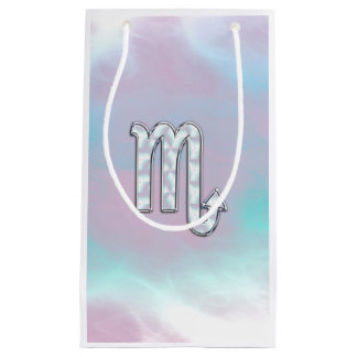 Scorpio Symbol in Mother of Pearl Style Decor Small Gift Bag
