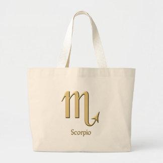 Scorpio symbol jumbo tote bag