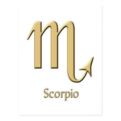 Scorpio symbol post card