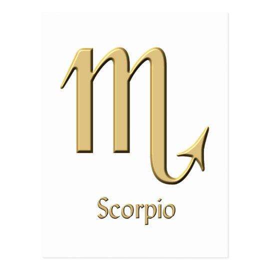 Scorpio symbol postcard