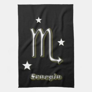 Scorpio symbol tea towel