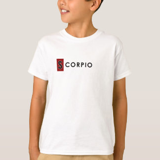 SCORPIO T SHIRT for Kids - Zodiac Color White Tee