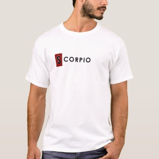 SCORPIO T SHIRT for Men - Zodiac Color White Tee