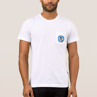SCORPIO T SHIRT for Men - Zodiac Symbol White Tee