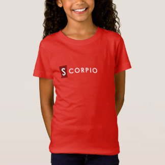 SCORPIO T SHIRT - Girls' Zodiac Color Red Tee
