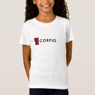 SCORPIO T SHIRT - Girls' Zodiac Color White Tee