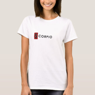SCORPIO T SHIRT - Woman's Zodiac Color White Tee