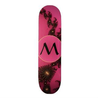 Scorpio Tail with Monogram - Pink Gold Black Skate Decks