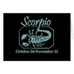 Scorpio Teal Card