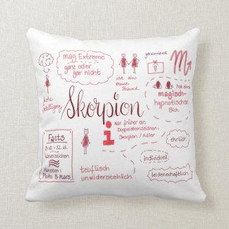Scorpio, the mysterious asterisk throw pillow