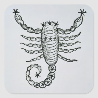 Scorpio (the Scorpion) an illustration from the 'P Square Sticker