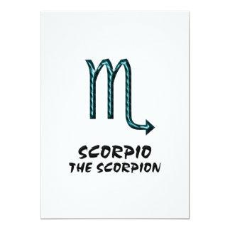 Scorpio the scorpion invitation