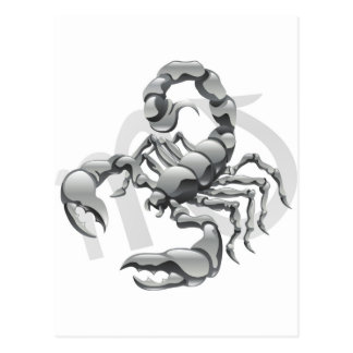 Scorpio the scorpion star or birth sign postcards