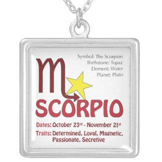 Scorpio Traits Square Necklace
