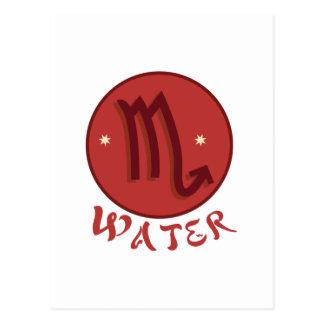 Scorpio Water Postcard