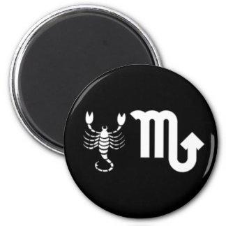 Scorpio with Symbol 6 Cm Round Magnet
