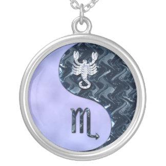 Scorpio Yin Yang Round Pendant Necklace