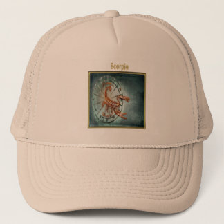 Scorpio Zodiac Astrology design Horoscope Trucker Hat