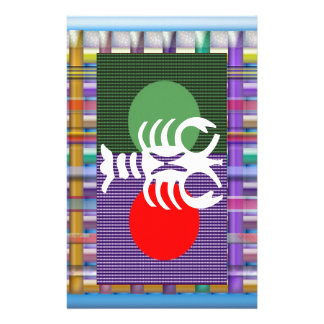SCORPIO Zodiac Astrology Jyotish Symbols Customized Stationery