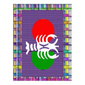 SCORPIO Zodiac Astrology Jyotish Symbols Postcard