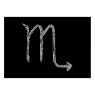 Scorpio Zodiac Astrology Sign Black Business Card Template