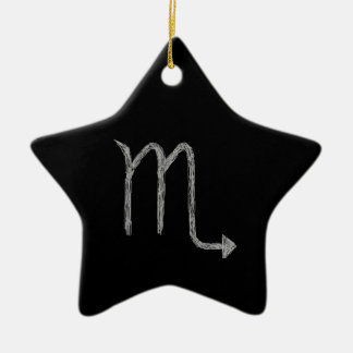 Scorpio. Zodiac Astrology Sign. Black. Christmas Ornament
