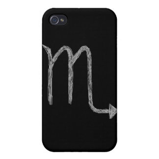 Scorpio. Zodiac Astrology Sign. Black. iPhone 4 Case