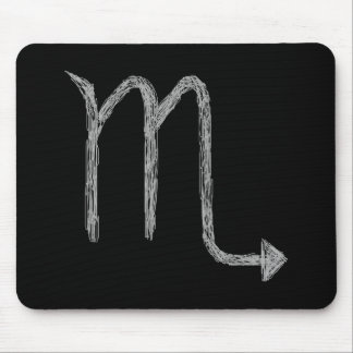 Scorpio. Zodiac Astrology Sign. Black. Mouse Mat