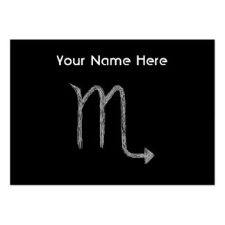 Scorpio. Zodiac Astrology Sign. Black. Pack Of Chubby Business Cards