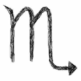 Scorpio. Zodiac Astrology Sign. Black. Photo Sculpture Magnet