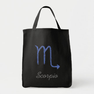 Scorpio. Zodiac Astrology Sign. Blue. Tote Bag