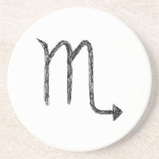 Scorpio. Zodiac Astrology Sign. Beverage Coasters