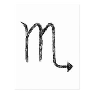 Scorpio. Zodiac Astrology Sign. Postcard