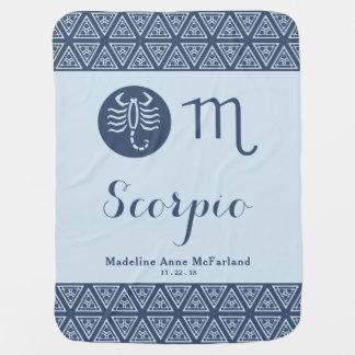 Scorpio Zodiac Baby Blanket