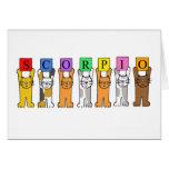 Scorpio Zodiac Birthday Cats Greeting Card