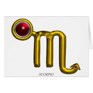 SCORPIO Zodiac Birthday Red Grenade Card